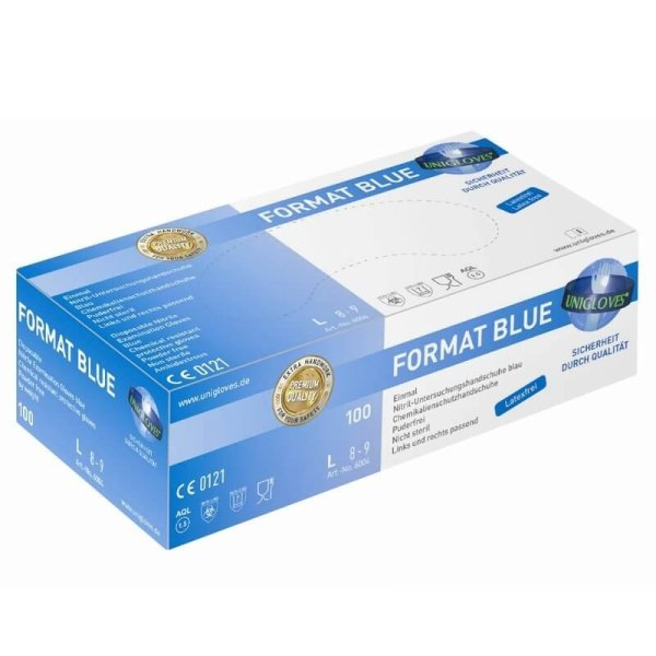 Nitrilhandschuhe Blau, puderfrei 100 Stk.