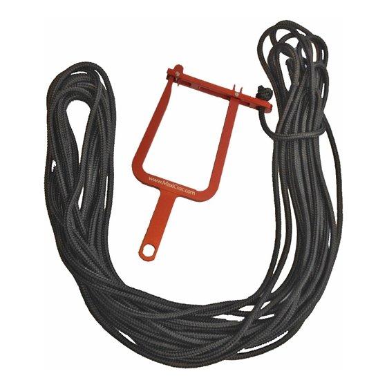 Maxicroc-Seil Schwarz 7mm 25 Meter
