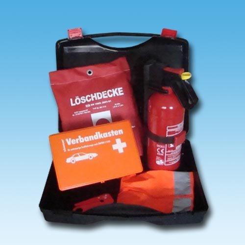 KFZ Erste Hilfe Box mit Dauerdruck Löscher